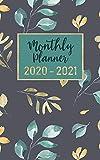 monthly planner 2020-2021: 2 year calendar pocket