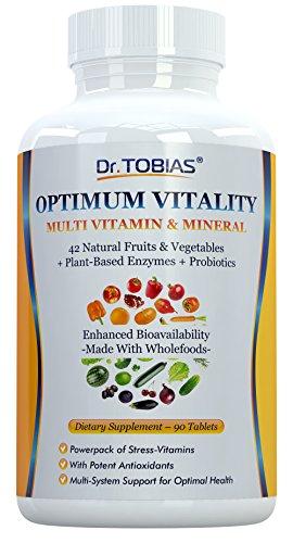 Le Dr Tobias multivitamines & de minérale Plus d'Enzymes - amélioré biodisponibilité - avec Wholefoods & ingrédients de fines herbes - riche en vitamines B & C