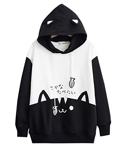 c973f7971181 Cosplay Anime Bunny Emo Girls Sweater Hoodie Ears Costume Panda Cat Emo  Bear Jacket T Shirt Top Shirt - Buy Online in KSA. Apparel products in  Saudi Arabia.