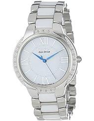 Citizen Womens EM0170-50A  Eco-Drive Ciena Ceramic Diamond Accented Watch