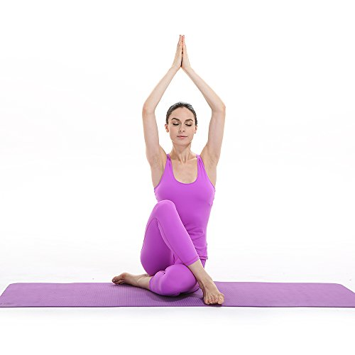 YOZOE Yoga Rubber Mat 1.5mm Ultra-thin Portable Folding Non-slip Eco-friendly Professional Yoga Mat (Purple)