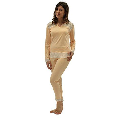 Versace 19.69 - Pijama 27-910V para mujer, 100% algodón, manga larga - talla M