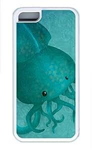 iPhone 5c case, Cute A Tentacled iPhone 5c Cover, iPhone 5c Cases, Soft Whtie iPhone 5c Covers