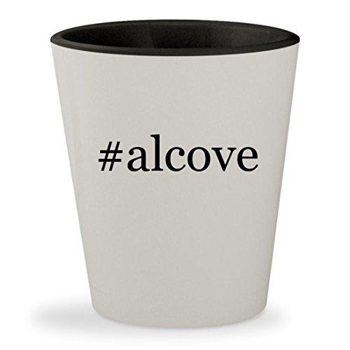 #alcove - Hashtag White Outer & Black Inner Ceramic 1.5oz Shot - Air Tubs Maax
