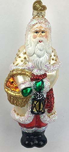 Old World Christmas Glass Santa Ornament Pere Noel Victorian 5.5