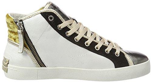 Crime London 25321ks1, Sneaker a Collo Alto Donna Multicolore (Weiß)