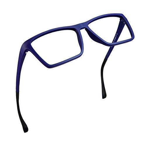 LifeArt Blue Light Blocking Glasses, Anti Eyestrain, Computer Reading Glasses, Gaming Glasses, TV Glasses for Women Men, Anti Glare (Blue, 4.00 Magnification)