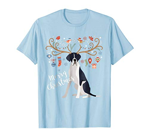 - Great Dane Dog Christmas Shirt Mantle