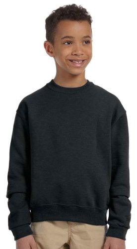 picture of Jerzees 562B Youth 8 oz. 50/50 Crew Neck-Small-Black