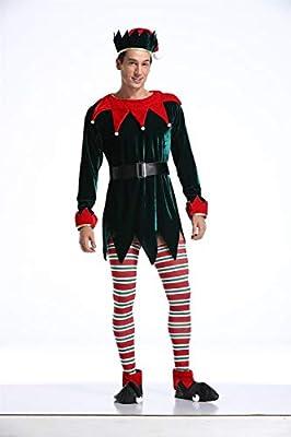 Árbol de Navidad de vestuario clásico unisex del traje del duende ...
