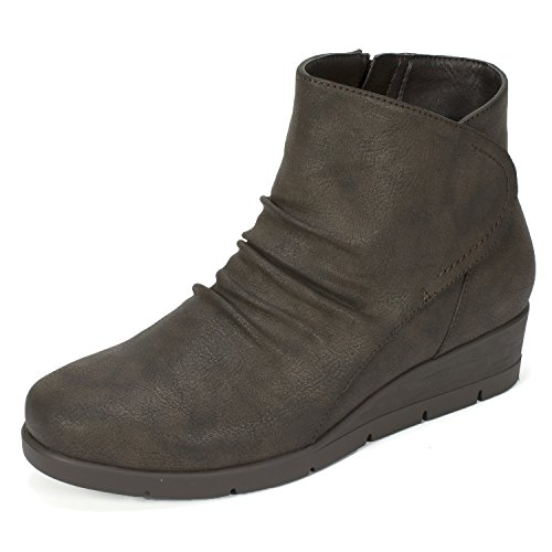 MOUNTAIN 'Terry' WHITE Women's CLIFFS Brown Bootie BY Cliffs E1AwTvTBq