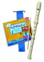 Flötenlilli Blockflöten-Set, C-Sopranblockflöte + Buch: Komplettes Anfängerset für Kinder ab 4 Jahren