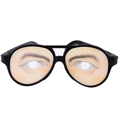 YHCWJZP Joke Funny Fake Eyes Disguise Glasses for Masquerade Halloween Costume Party - Men's -