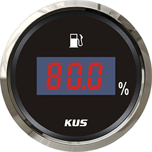 Digital Fuel Level Gauge (KUS Digital Fuel Level Meter Gauge 4-20mA Signal Black Faceplate 52MM 12V/24V)