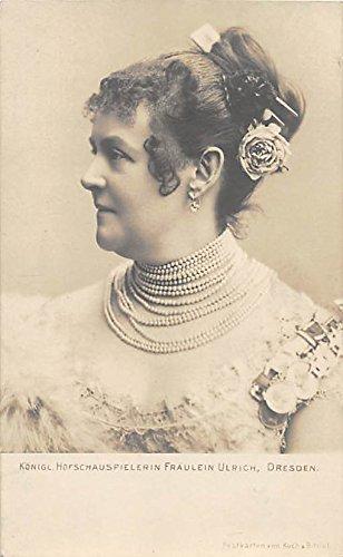 Fraulein Ulrich, Dresden Theater Actor / Actress Postcard