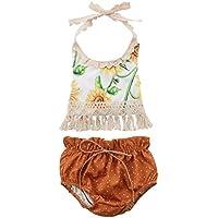 Conjunto de 3 peças de roupas para bebês e meninas recém-nascidas, macacão + calça + faixa de cabeça