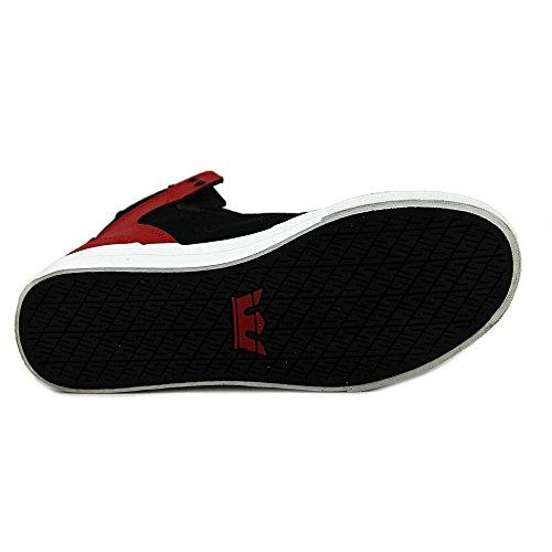 Supra VAIDER Unisex-Kinder Hohe Sneakers schwarz / rot / weiß