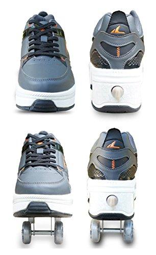Patines Ajustables Ruedas De Multiusos En 2 1 Hdcm Zapatos Deportivos Cuádruples gvZYwzxqz
