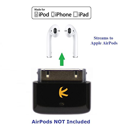KOKKIA i10s (Black) : Tiny Bluetooth iPod Transmitter for iPod/iPhone/iPad. Works well with Apple AirPods. Plug and Play.