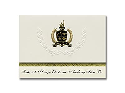 Signature Announcements Integrated Design Electronics Academy Idea Pcs (Washington, DC) Graduation Announcements, Presidential Elite Pack 25 w/ Gold & Black Foil seal