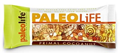 PaleoLife Paleo Bars - NO GLUTEN/SOY/DAIRY! (Box of 8 Extra-Large Premium Paleo Bars) - Primal Cocoa-Nut flavor from PaleoLife Foods