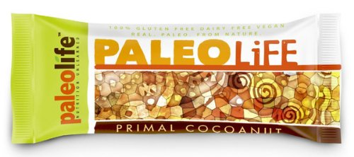 Bars PaleoLife Paléo - NO GLUTEN / SOJA / LAIT! (Boîte de 8 Très Grands Bars prime Paleo) - Primal saveur noix de coco