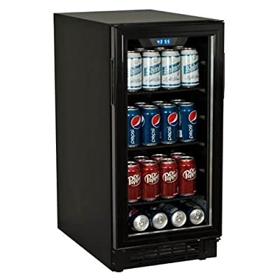 Koldfront BBR900 15 Inch Wide 80 Can Built-In Beverage Center with Slim Design
