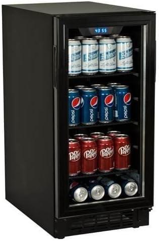 Koldfront 80 Can Built-In Beverage Cooler – Black