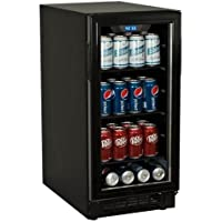 Koldfront BBR900BL 80 Can 15 Inch Wide Built-In Beverage Cooler - Black