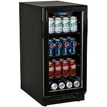 Koldfront BBR900BL 80 Can 15 Inch Wide Built-In Beverage Cooler - Black