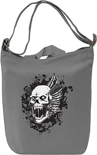 Skull Borsa Giornaliera Canvas Canvas Day Bag| 100% Premium Cotton Canvas| DTG Printing|