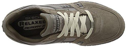 Skechers Floater Zapatillas de piel para hombre Gris (DKTP)