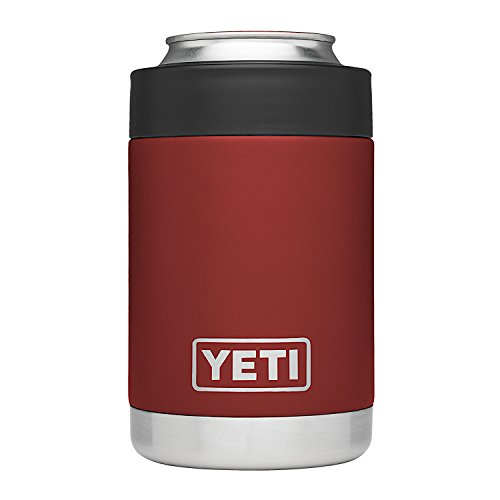 YETI Rambler Stainless Steel Vacuum Insulated Colster, Brick Red