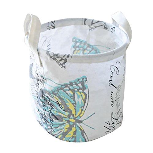 YJYdada Cotton Waterproof PE Coating Desktop Storage Basket sundries Storage Box (Bench Girls Jacket)