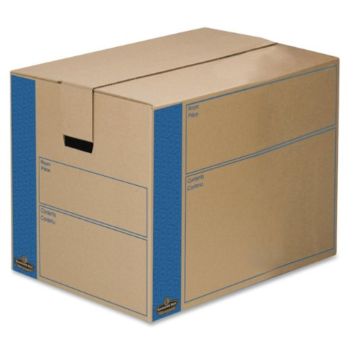 Bankers Box SmoothMove Prime Moving Boxes, Tape-Free and Fast-Fold Assembly, Large, 24 x 18 x 18 Inches, 6 Pack - Fast Bankers Fold Box