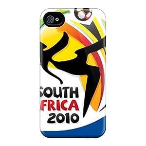 Tpu DaMMeke Shockproof Scratcheproof Fifa World Cup 2010 Hard Case Cover For Iphone 4/4s wangjiang maoyi