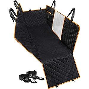 Callas Polypropylene Hammock 600D Waterproof Scratchproof Nonslip Durable Back Seat Pet Cover for Car (Black, Standard Size)