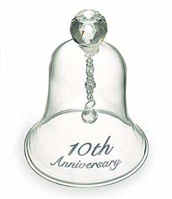 Russ 10th Anniversary Glass Bell, 4-Inch