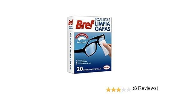 Bref - Toallitas limpia gafas, 20 unidades: Amazon.es: Alimentación y bebidas