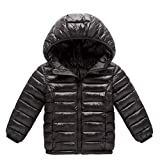 Little Kids Winter Warm Coat,Jchen(TM) Clearance! Baby Kids Little Boy Girl Autumn Winter Down Jacket Coat Hooded Zipper Keep Warm Children Outwear for 1-8 Years Old (Age: 4-5 Years Old, Black)