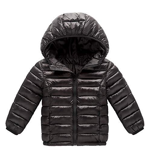 3d1ee9724d6 XILALU Baby Girl Boy Kids Light Down Jacket,Windproof Zipper Cable Hooded Coat  Winter Warm