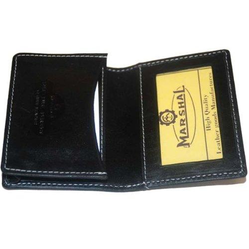 100% Leather Business Card Holder Black #96-70, Office Central