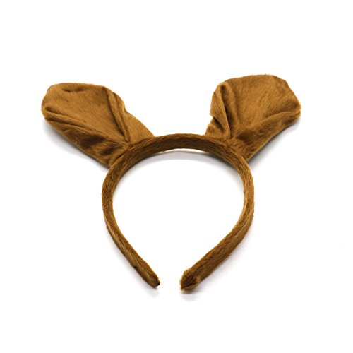 IDS Kangaroo Ears Headband Brown Ears Party Accessory]()