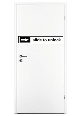 Slide To Unlock Logo House Door Front Door Stickers Car Stickers