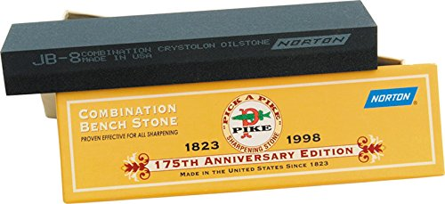 Norton Crystolon Combination Oilstone, Fine/Coarse, 1 x 2 x 8
