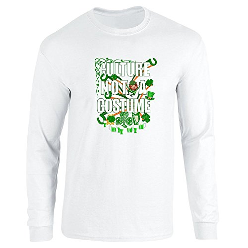 [Culture Not A Costume St Patrick's Day White 3XL Long Sleeve T-Shirt by Pop Threads] (Funny Pop Culture Costume Ideas)