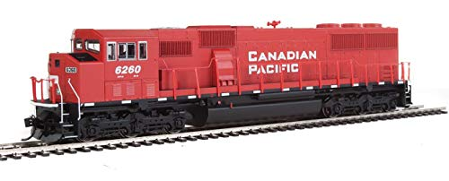 EMD SD60M WITH 3-PIECE WINDSHIELD - ESU(R) SOUND & DCC -- CANADIAN PACIFIC 6260 (RED, WHITE, BLACK)