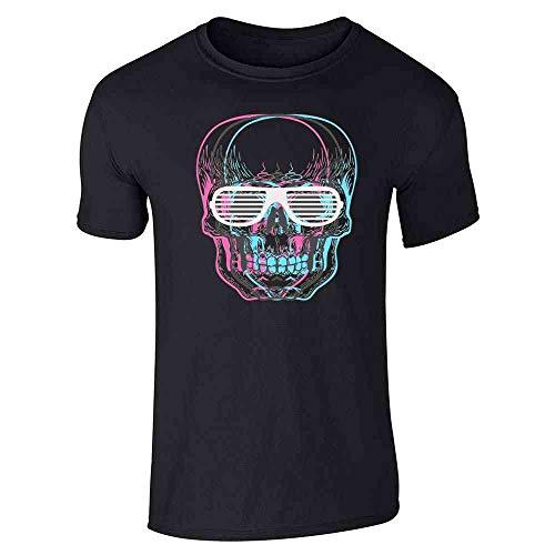 Pop Threads Skull with Shutter Sunglasses Black M Short Sleeve T-Shirt