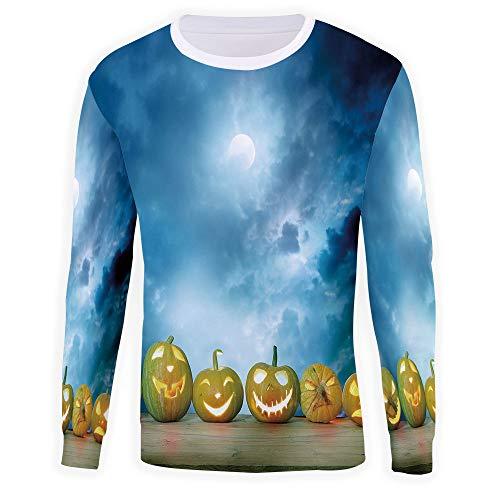 MOOCOM Unisex 3D Halloween Graphic Pullover Sweatshirt]()