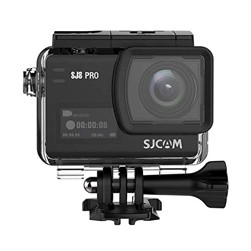 """SJCAM SJ8 Pro Sport Action Camera 4K 60fps Ambarella H22 S85 SONY IMX377 Wi-Fi Sports Cam Underwater Camcorder 12MP 30M Waterproof with High-clarity Digital Zoom 2.33"""" Dual Touch Screen-Rose Gold SJCAM"""